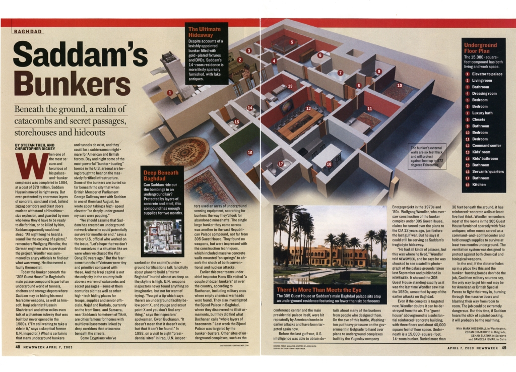Inside Saddam's Bunker, for Newsweek.