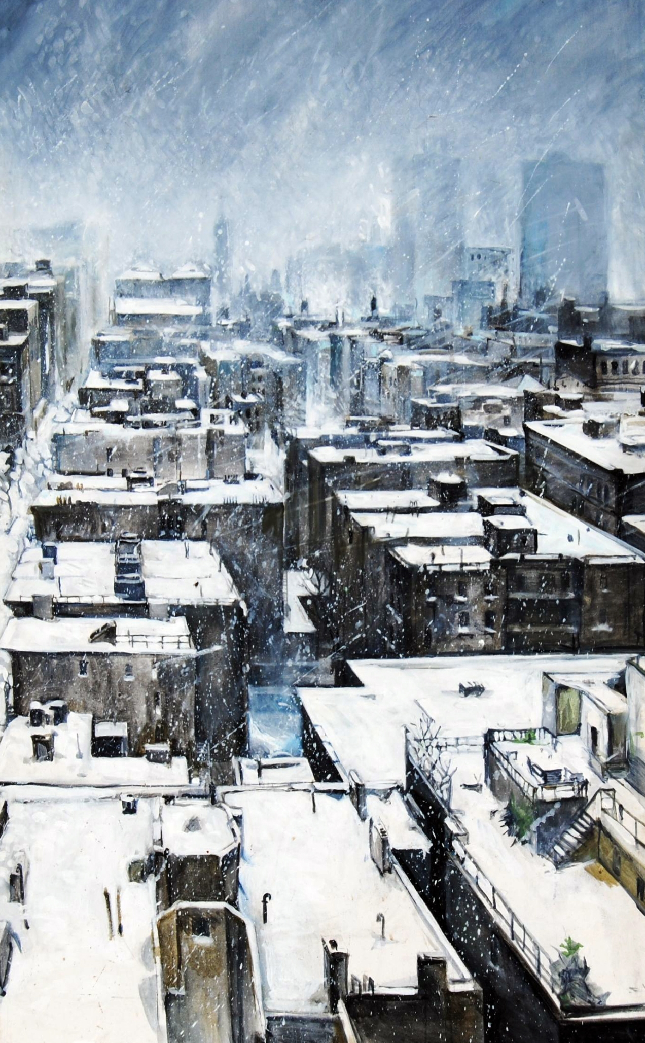 Blizzard of '96 (SoHo) 3' x  5' Oil on Canvas